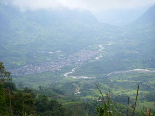 View of Supia, Caldas... one of the towns where our coffee producer partners grow our organic Colombian coffee