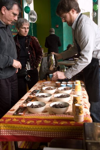 Dary Goodrich does a coffee & chocolate pairing