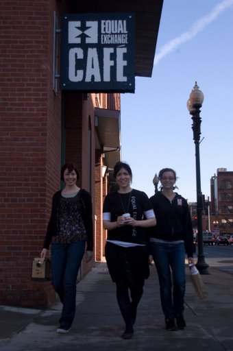 Cari Senefsky, Esther West & Lisa Valdez take the coffee to the streets