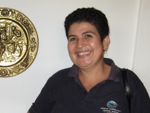 Agueda Ordenana, member of the Tierra Nueva Women's Commission
