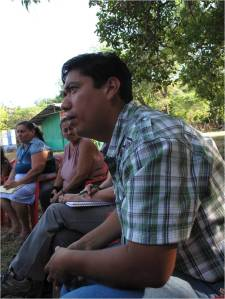 Alex Flores, General Manager, at a farmer meeting