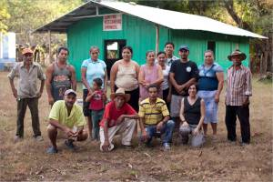 Following a meeting with Aprainores farmers located on the Island of Montecristo.