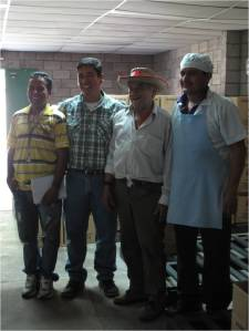 Oscar Vallardes, President, Alex Flores, General Manager, Leopoldo Abrego, Oversight, Rudy, Quality Control