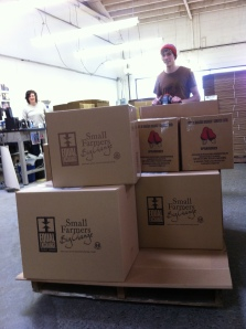 Shawn and Tyler receiving our first shipment of cashew nuts!