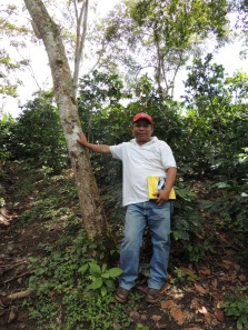 Clemente showing off his wife's farm in Samarcanda, Madriz, Nicaragua.