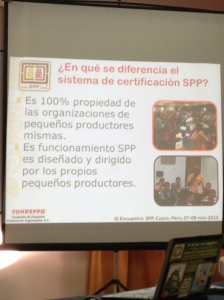 What differentiates the SPP from other certification systems? The first two factors in a long series.
