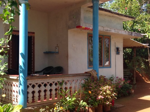 A newly built Adivasi house.