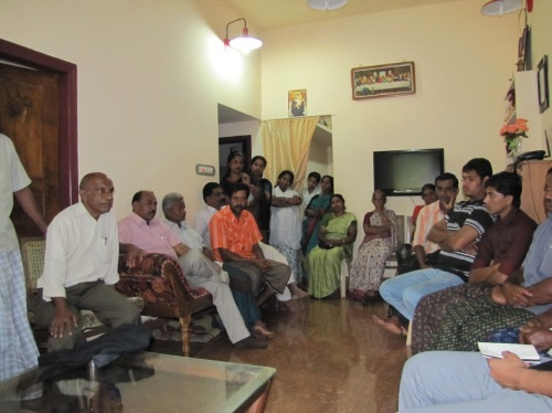 Meeting with one group of Adivasi tea and spice farmers.