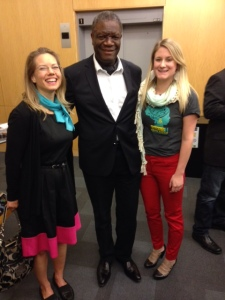Laurie and Frankie, with Dr. Denis Mukwege